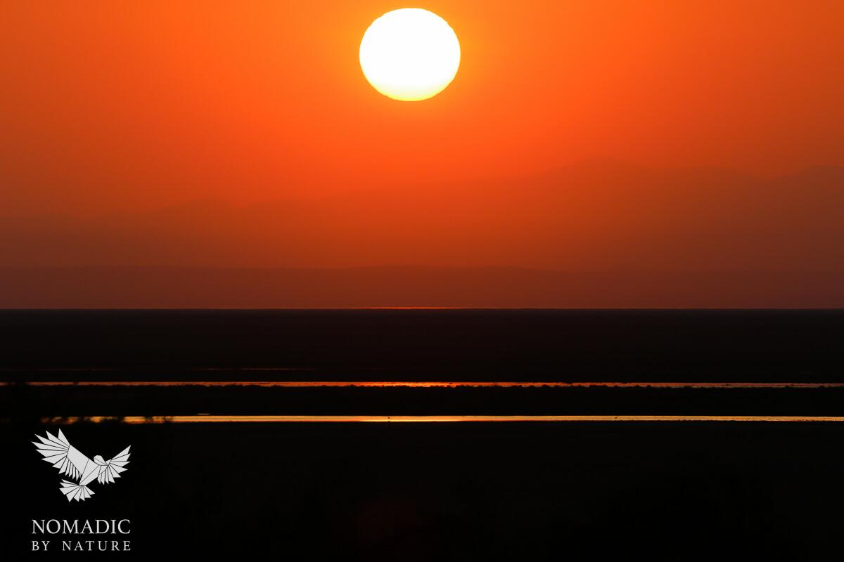 Sunrise over Lake Natron, Tanzania