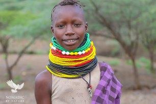 A Young Girl from the Turkana Tribe, Lake Turkana, Kenya