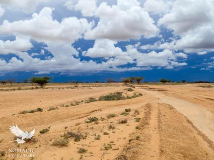 A Storm Brewing Over the Chalbi Desert, Kenya