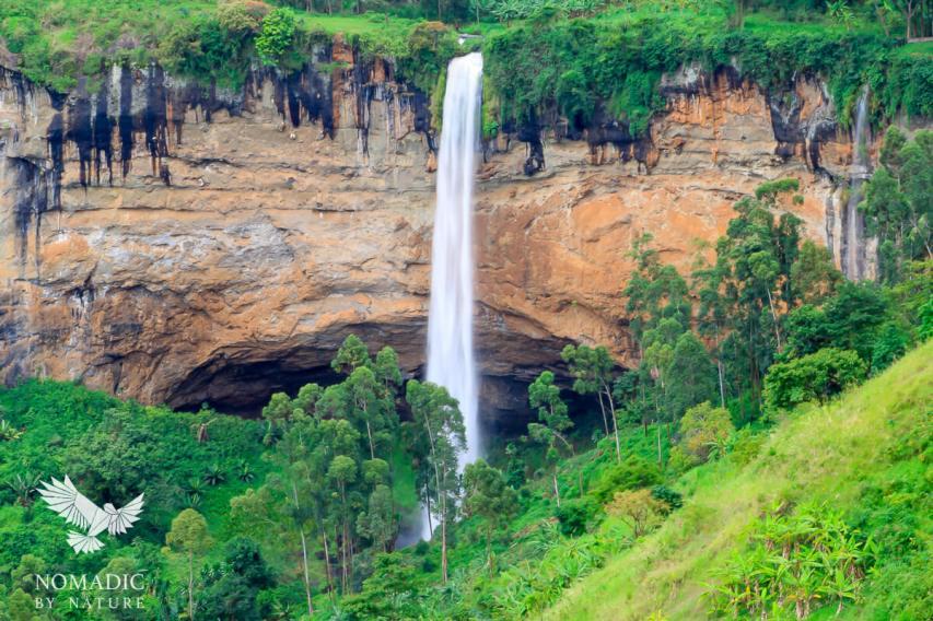 Sipi Falls over Rust Red Basalt, Uganda