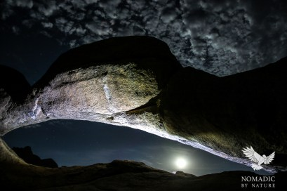The Supermoon under the Spitzkoppe Arch, Namibia