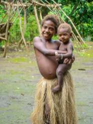 Young Girl with her Brother, Tanna Island, Vanuatu