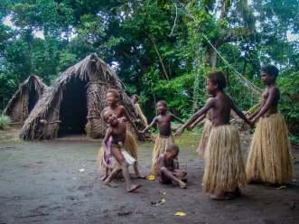 Children Playing. Tanna Island, Vanuatu