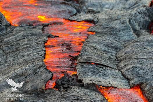 Crater Crust Cracking, Exposing Lava Below, Erta Ale, Ethiopia