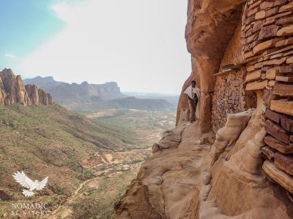 The Stone Catwalk Leading to the Entrance of Abuna Yemata, Ethiopia