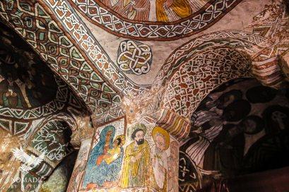 The Black Virgin Mary and baby Jesus, Abuna Yemata, Ethiopia
