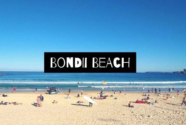 visiting bondi beach in sydney
