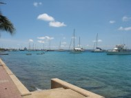 The anchorage in Bonaire.