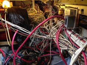A maze of wiring.