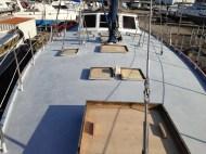 A lightly sanded deck.