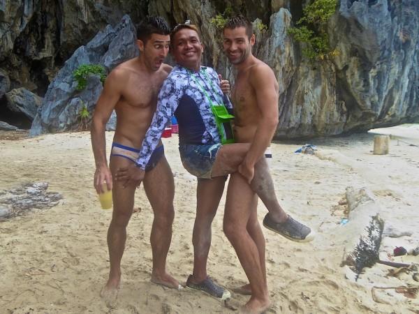 Miss Palawan in El Nido with Stef and Seb