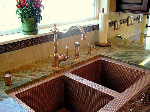 Genial ... Sink And Copper Faucet Combo: From ...