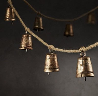 Cow Bell Garland via Restoration Hardware