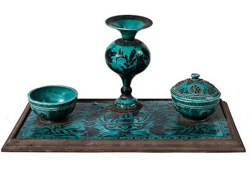 Turkish Inkwell Sold by OKL
