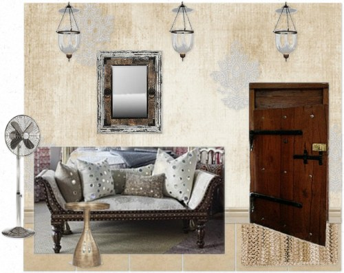 Moodboard for India pied-a-terre Foyer