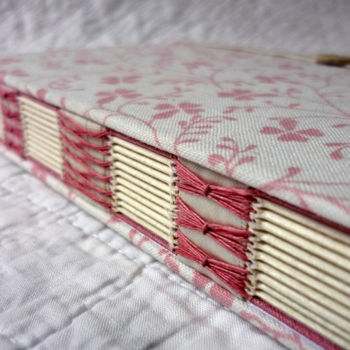 Journal Bound in Dusty Pink by Kate Bowles