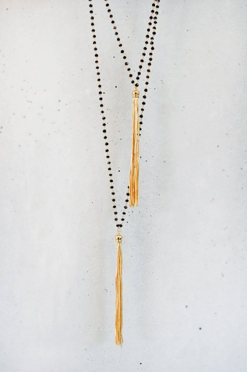 Tassel Necklace by shopkei on etsy