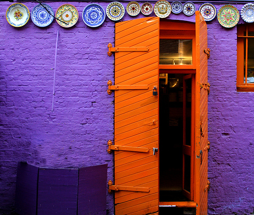 Colorful Funky Door by Andrea Kennard & Colorful Funky Door by Andrea Kennard | Nomadic Decorator