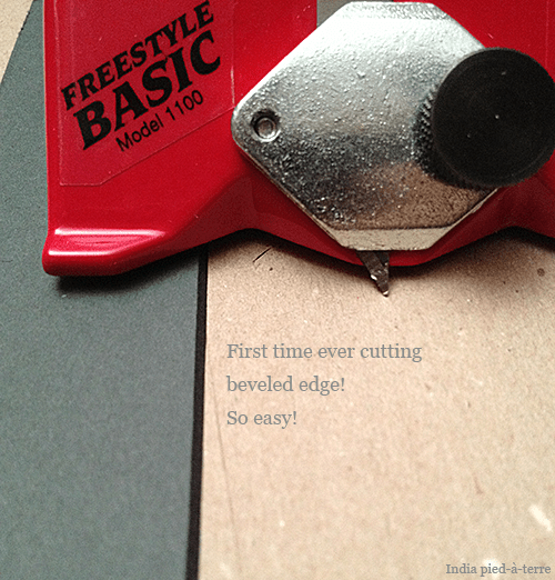 DIY Picture Frame Matte Cutting