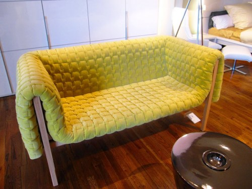 Chartreuse Ligne Roset Sofa Photographed by Coco of Cococozy