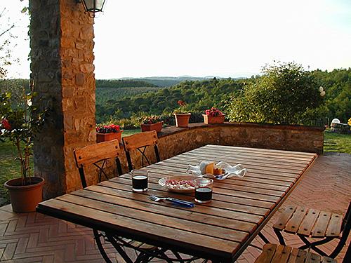 Tuscan Villa Outdoor Veranda Dining