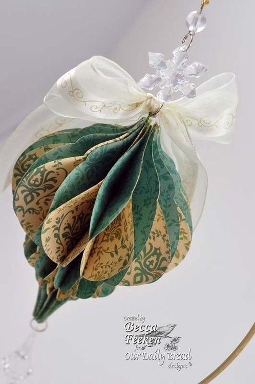 Scrapbook Paper Ornament by Becca Feeken of Amazing Paper Grace