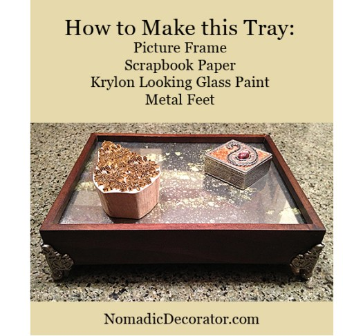 DIY Antique Mirror Tray with Krylon Looking Glass Paint