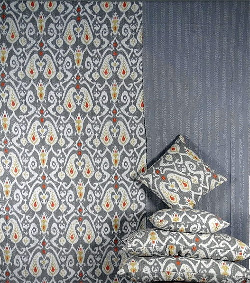 Ikat Bedspread from Maharani Arts