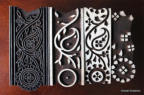 Wooden Printing Block Set from Charan Creations