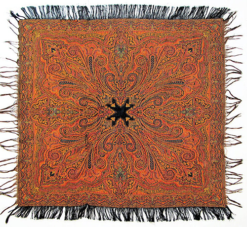 Wool Kashmiri Shawl from Old Silk Route Shop on Etsy