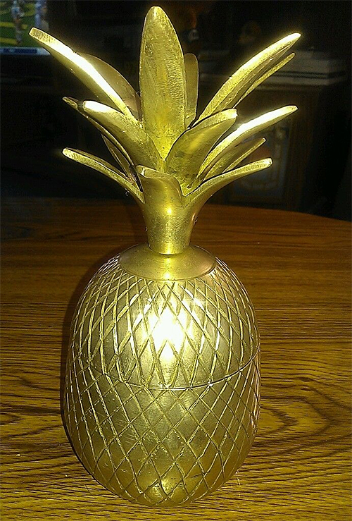 Brass pineapple from India from eBay seller robint69
