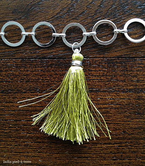 Attaching Silk Tassels to a Chain