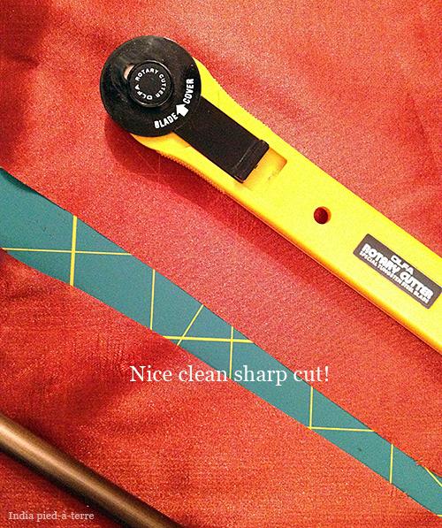 Rotary Cutter Makes a Nice Clean Cut