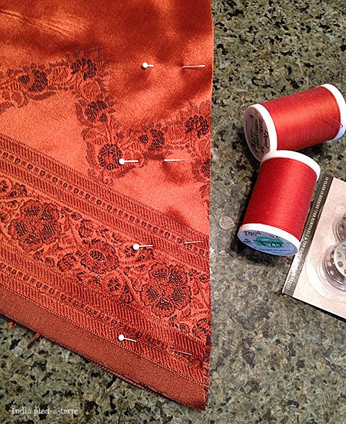 Sewing the Christmas Tree Skirt