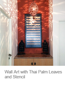 DIY Wall Art with Palm Leaves