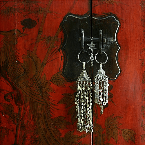 Apartmentf15 Chinese Cabinet with Tribal Jewelry
