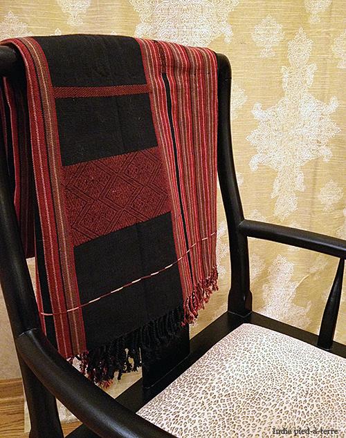 Naga Throw on Chinese Chair
