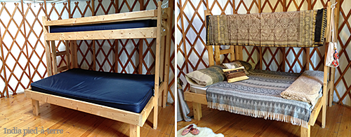 Glamping Bunk Bed Before After