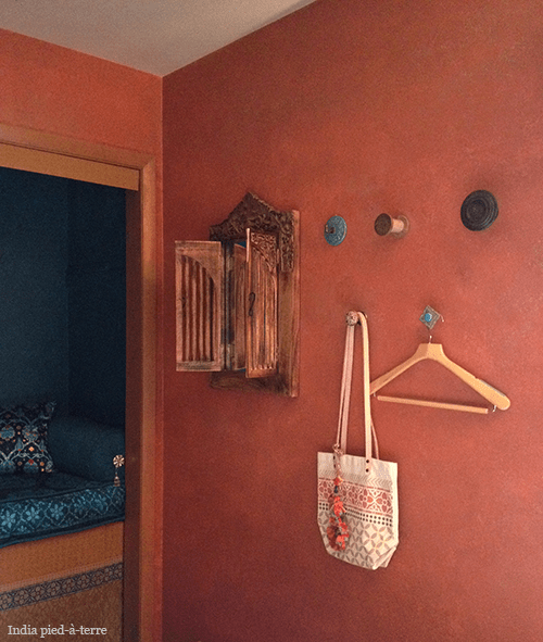Wall Hooks in Guest Room