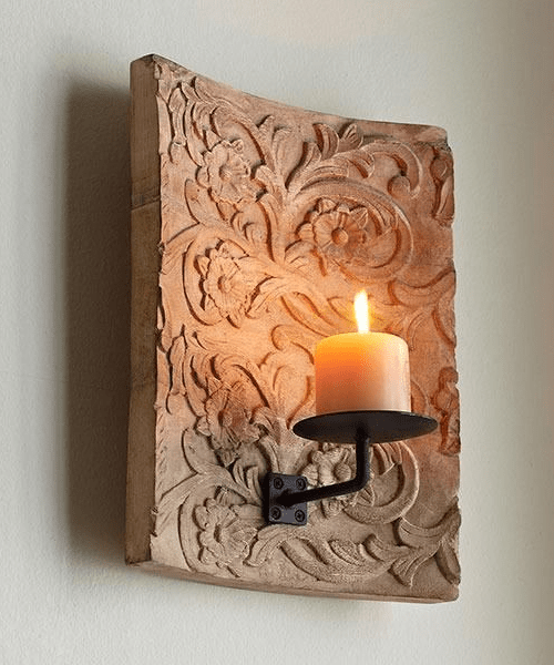 Raised Pattern Sconce from Wisteria