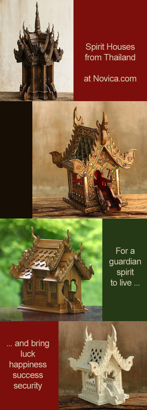 Thai Spirit Houses from Novica and a $75 Giveaway