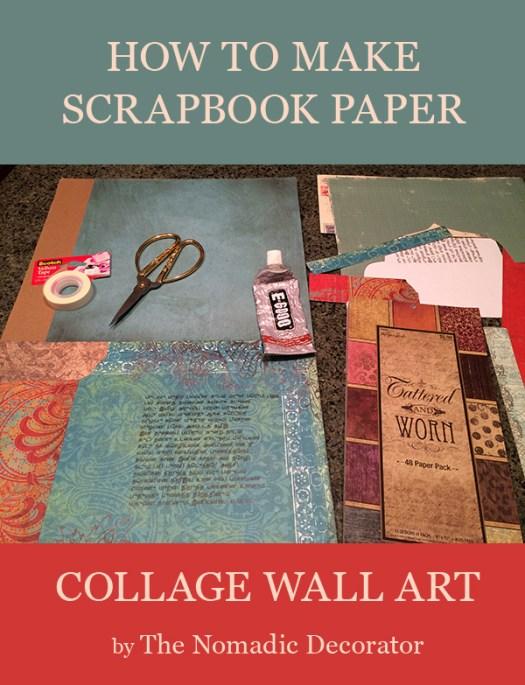 DIY Scrapbook Paper Wall Art