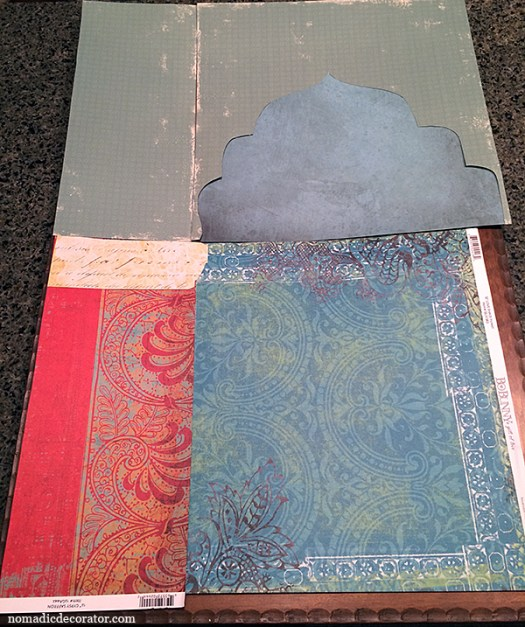 Layout of Scrapbook Paper Collage
