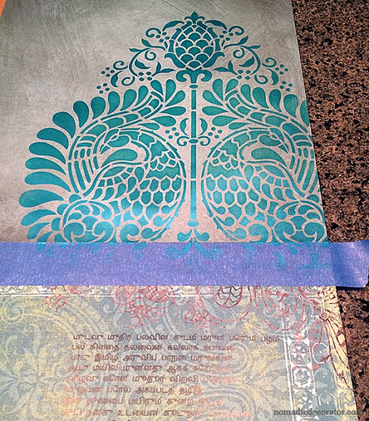 Stenciled Paper