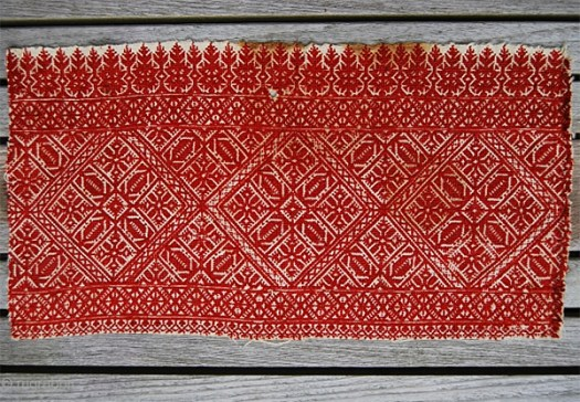 Antique Fez Embroidery from Rug Rabbit