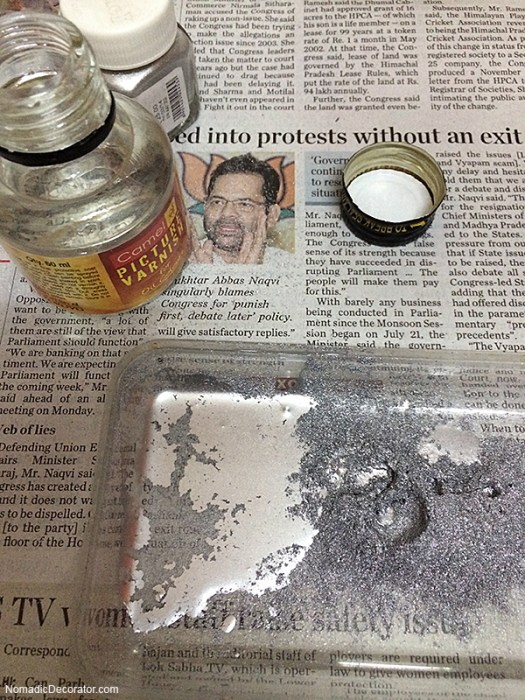 Silver Powder and Picture Frame Varnish