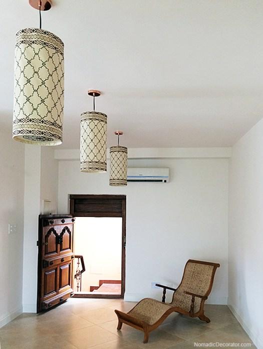 Stenciled Ceiling Pendant Lights