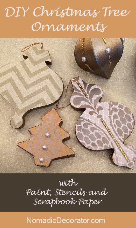 Stenciled Christmas Tree Ornament Tutorial