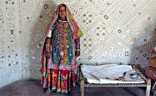 Mudhut Wall Painting in India via FabIndia Flickr