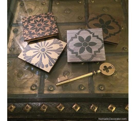 Stenciled Coasters